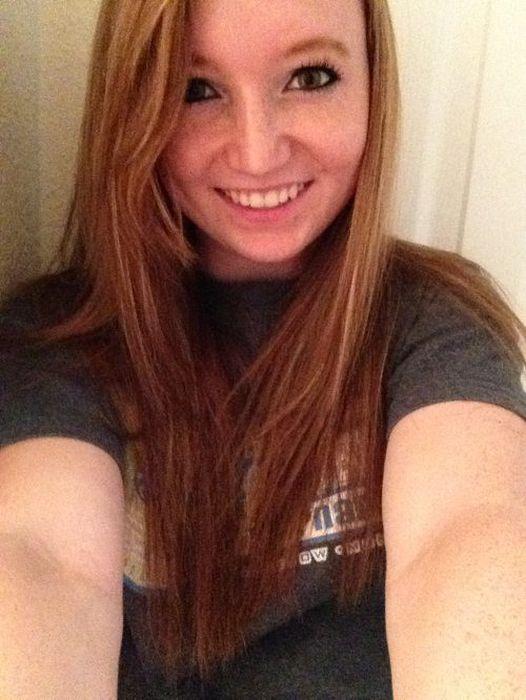 Cute redhead teen selfies