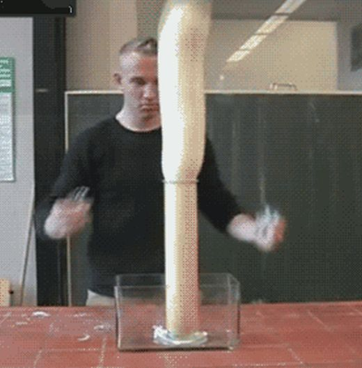 Impressive Chemical Reactions. Part 2 (22 gifs)