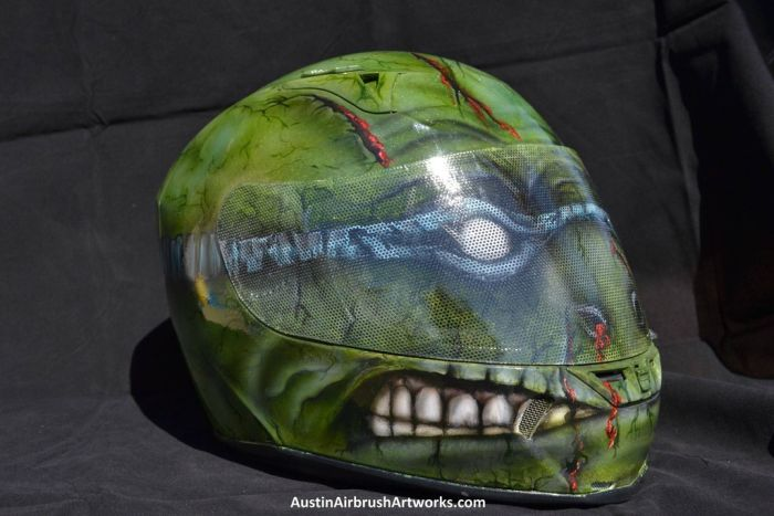 Ninja Turtle Airbrushed Motorcycle Helmet (7 pics)