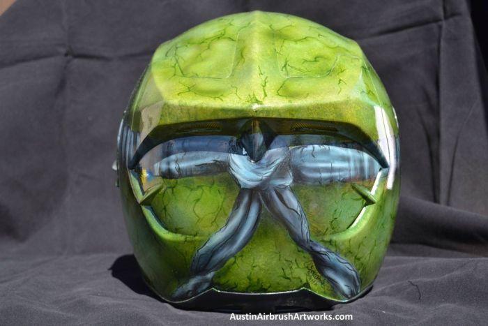 Ninja Turtle Airbrushed Motorcycle Helmet (7 pics)