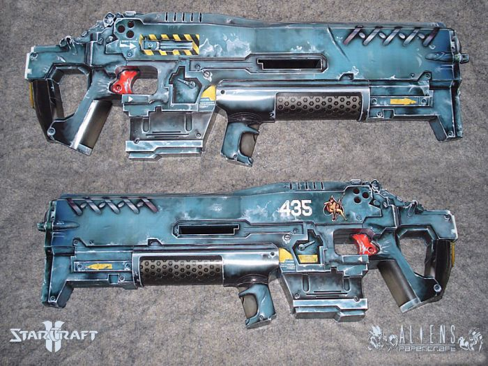 Papercraft Terran Marine Cannon (15 pics)
