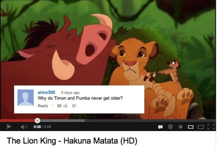 Funny YouTube Comments on Disney Movie Clips (16 pics)