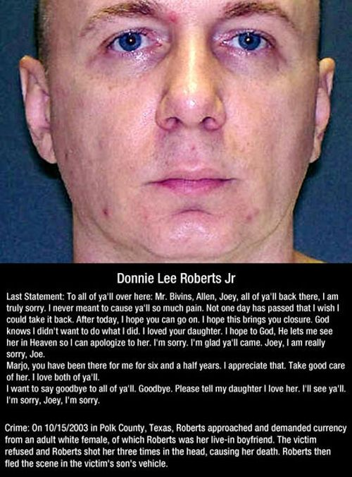Last Words Of Death Row Inmates (10 pics)