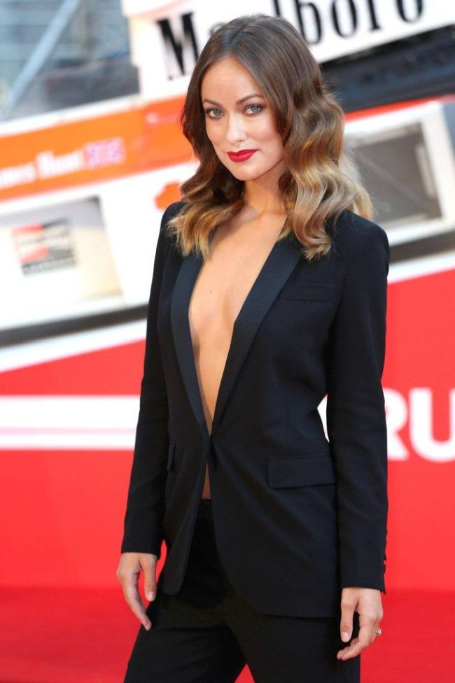 Olivia Wilde Wearing Nothing Under the Jacket (7 pics)