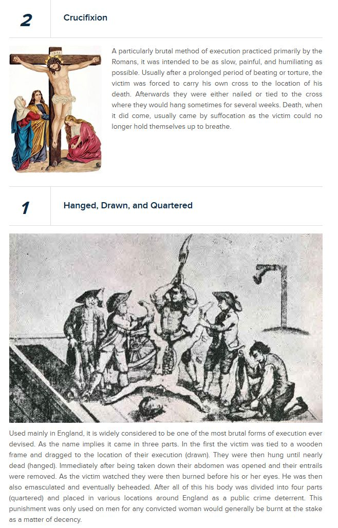Most Brutal Methods of Execution (13 pics)