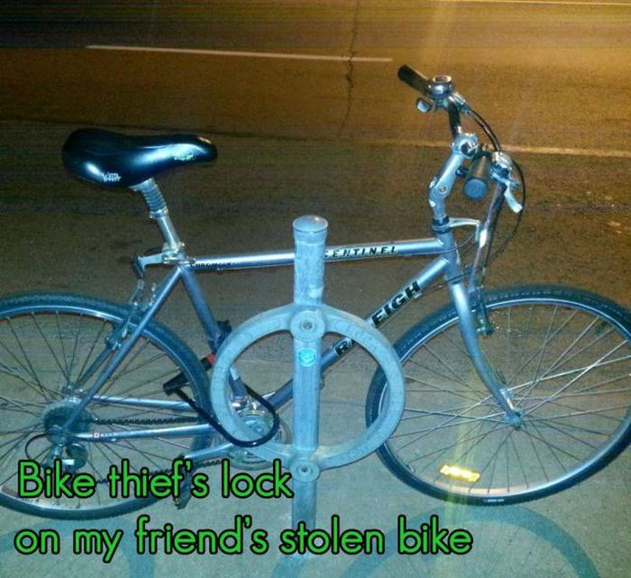 How to Teach Bike Thief a Lesson (4 pics)