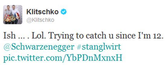 Klitschko and Schwarzenegger on Twitter (4 pics)