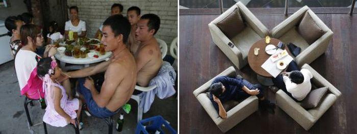 China's Massive Wealth Gap in Photos (22 pics)
