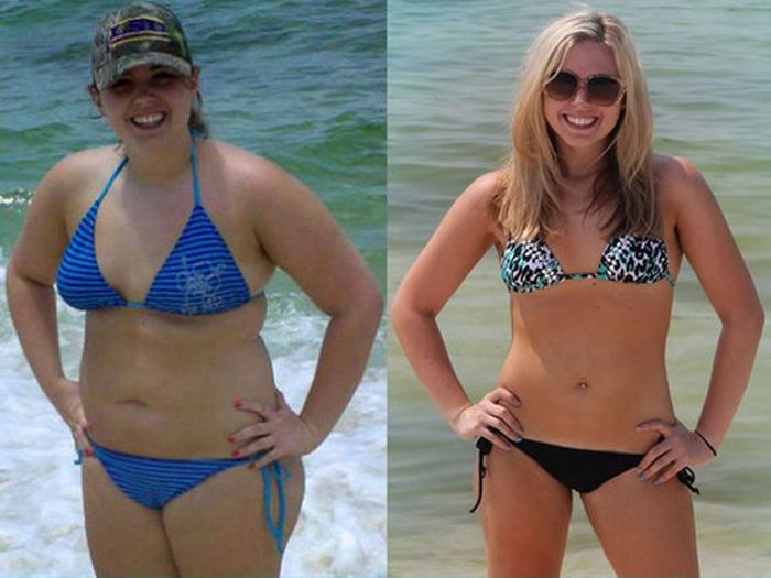 Before and After the Diet (10 pics)