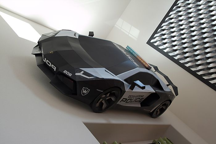 Papercraft Lamborghini Aventador A-E2 (12 pics)