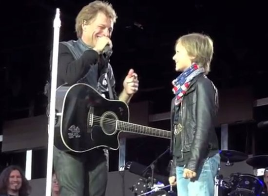 Jon Bon Jovi And His 11-Years-Old Fan