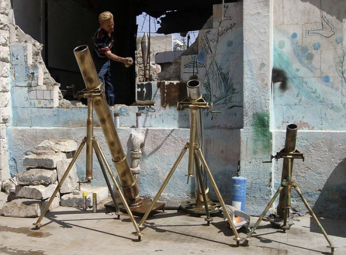 Self-Made Weapons in Syria (21 pics)