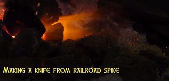 Handmade Railroad Spike Knife