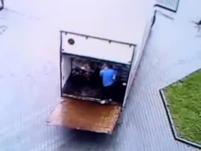 Unloading of Beer Gone Wrong