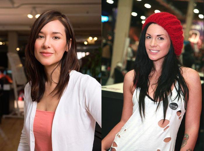 Female Celebrities And Their Pornstar Doppelgangers (22 pics)