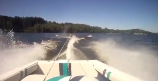 Look Ahead While Driving a Boat