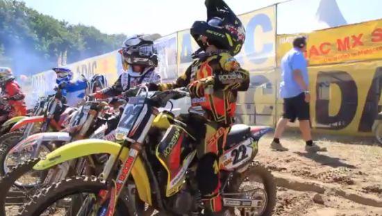 Weird Motocross Racer Activity Before The Race