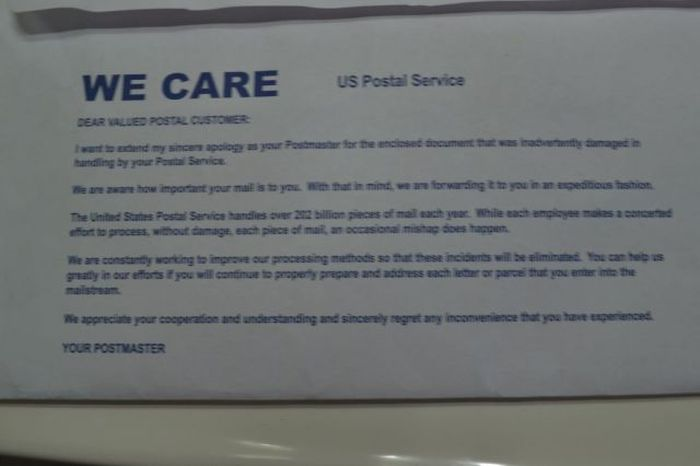 USPS Cares (5 pics)