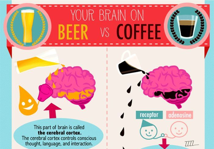 Beer Vs Coffee (infographic)