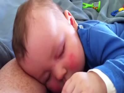 Baby Laughs While Sleeping