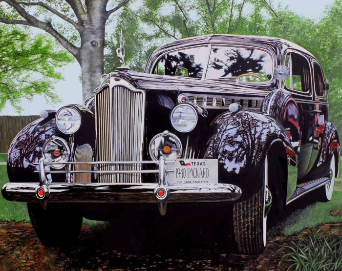 Realistic Paintings of Vintage Cars (25 pics)