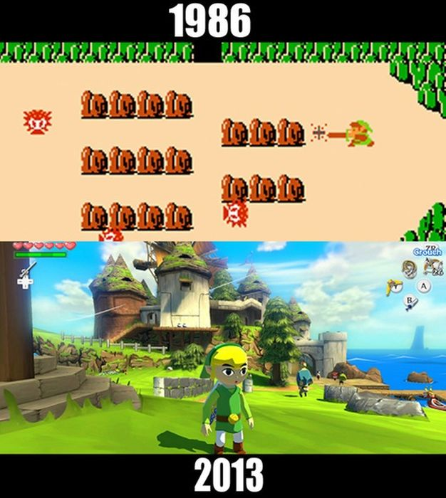 Classic Video Games Then and Now (10 pics)
