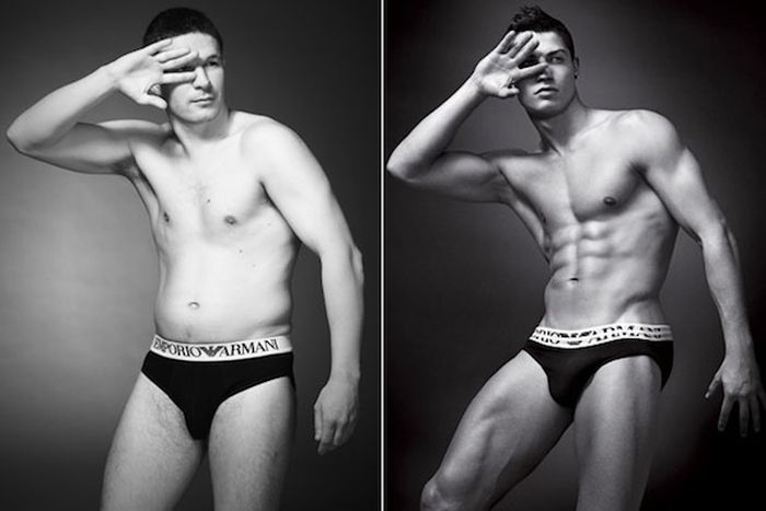 How Ordinary Men Would Look in Underwear Ads (5 pics)