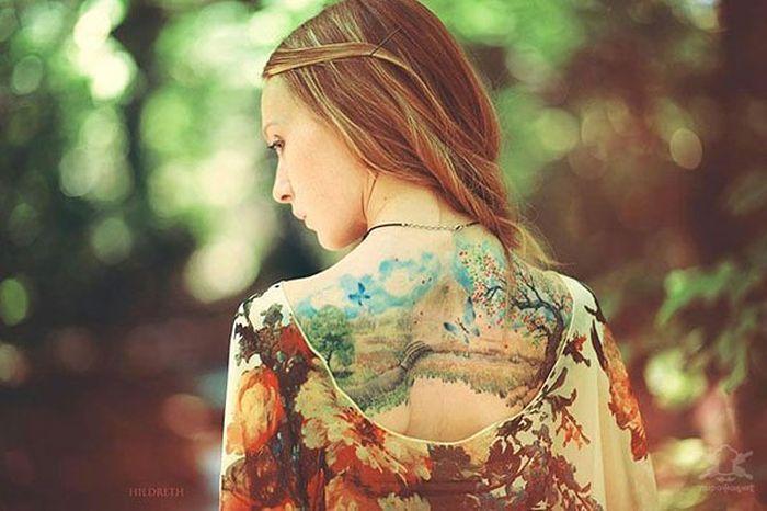 Watercolor Tattoos (26 pics)