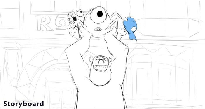 """Monsters University"" Development Process (6 pics)"