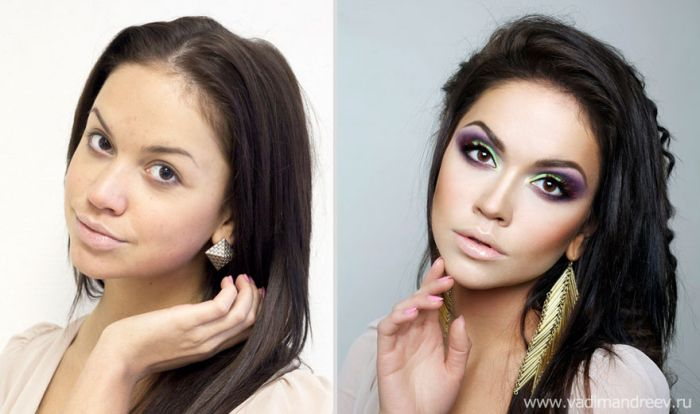 Russian Girls Before and After Makeup (20 pics)
