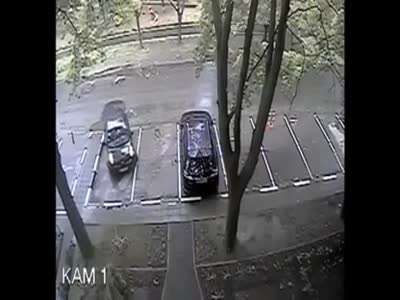 Weird Crash During a Car Parking