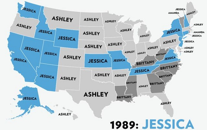 The Most Popular Baby Names for Girls in the USA (53 pics)