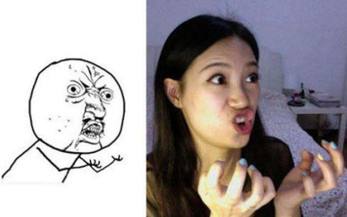 Girl Making Meme Faces (26 pics)