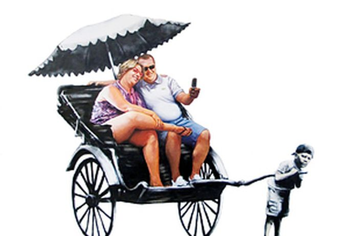 GIFs Made Out of Banksy's Art (28 pics)