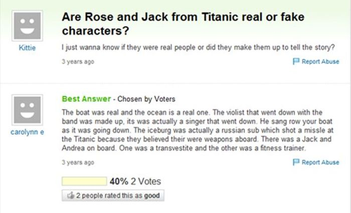 Yahoo Answer Fails (18 pics)