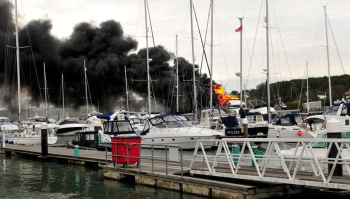 A Multi-Million-Dollar Superyacht Caught Fire (5 pics)
