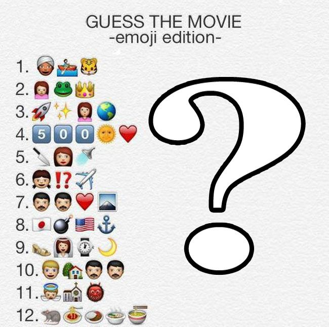 Movies in Emojis (2 pics)