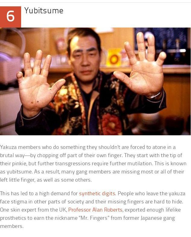 Facts About The Yakuza (10 pics)
