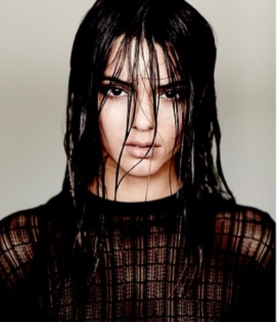 Kendall Jenner Reveals Her Breasts in Wet Photoshoot (2 pics)