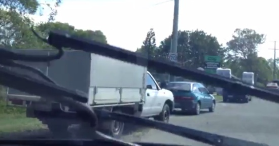 Snake Gets a Ride on the Windscreen