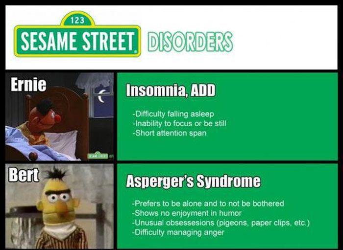 Sesame Street Mental Disorders (5 pics)