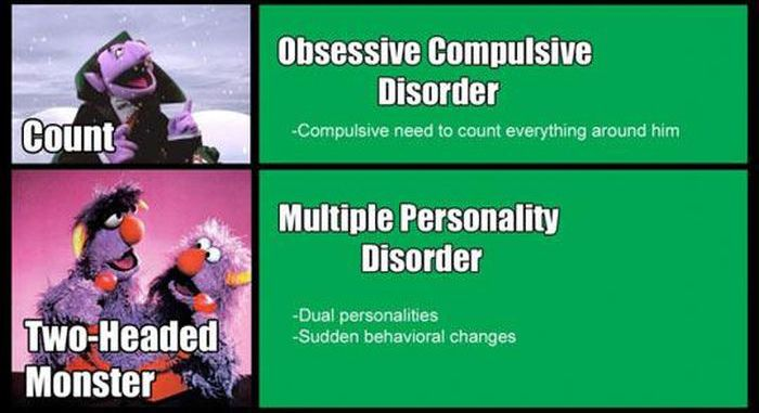 Sesame Street Mental Disorders (5 pics)