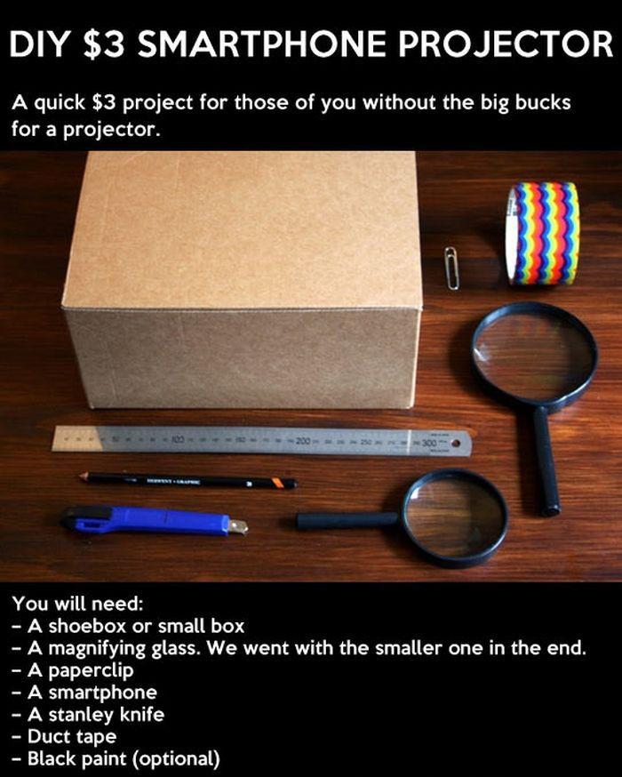 DIY Smartphone Projector (11 pics)