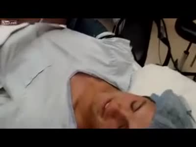 Guy Injects Himself Anesthetic