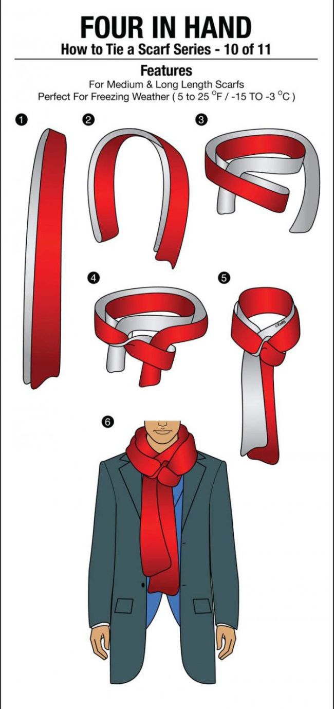 How to Tie a Scarf (11 pics)