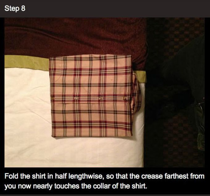 How to Fold Your Shirt Like a Professional (9 pics)
