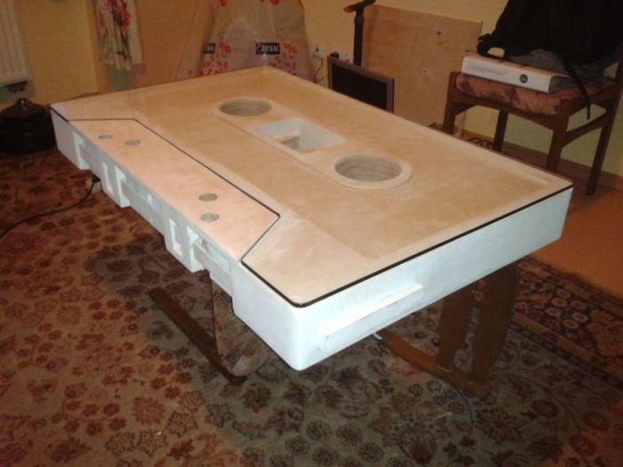 Audio Cassette Coffee Table (21 pics)