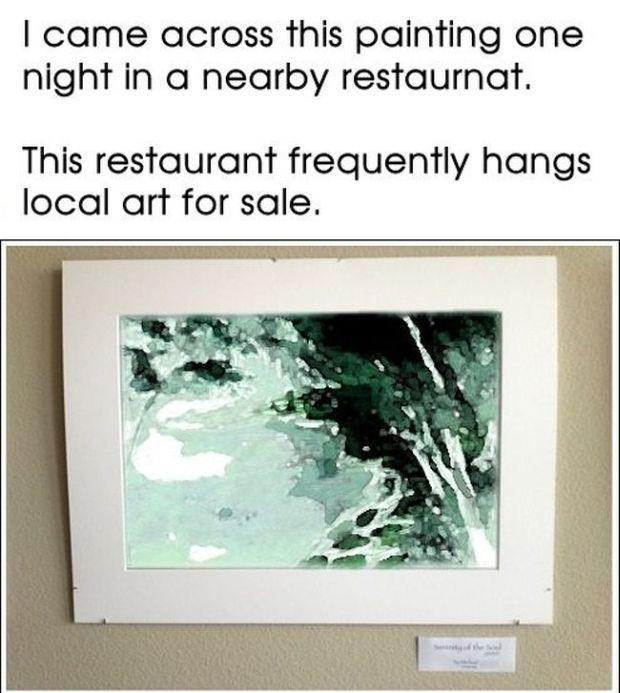 Restaurant Artist Gets Pranked (5 pics)