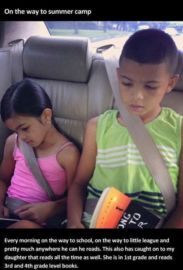 Encourage Your Kids to Read (5 pics)