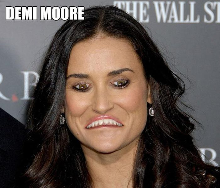 Celebrities With Inverted Mouths and Eyes (21 pics)